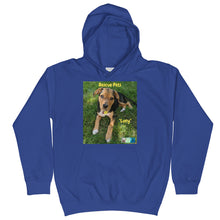 "Load image into Gallery viewer, Kids Hoodie Sweatshirt - Rescue Pets Collection - ""Lucy"" V"