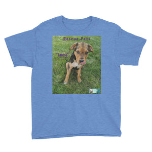"Youth/Kids' Short Sleeve T-Shirt - Rescue Pets Collection - ""Lucy"" IV"