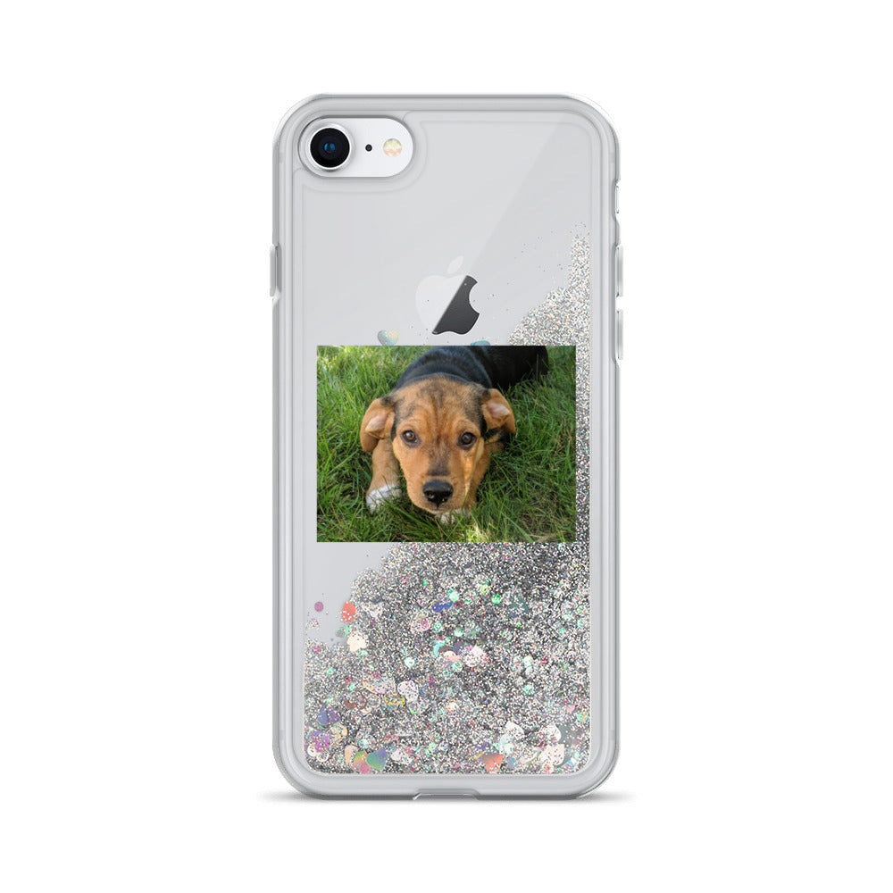 iPhone Case - Liquid Star Glitter-Filled - Dog -