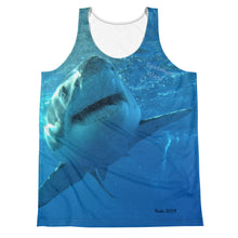 Load image into Gallery viewer, Unisex Tank Top (2-sided) - Surrounded by Sharks Shark Shirt Collection