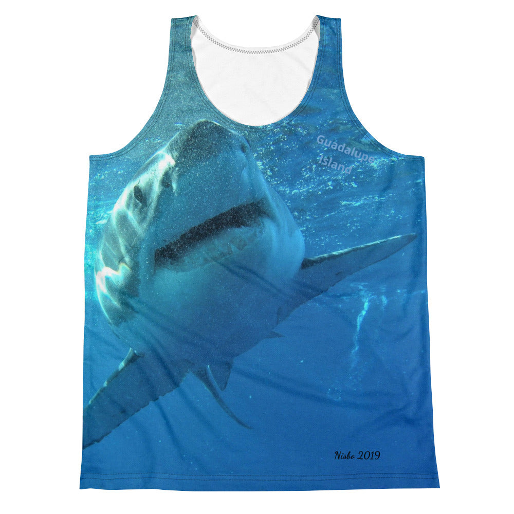 Unisex Tank Top (2-sided) - Surrounded by Sharks Shark Shirt Collection