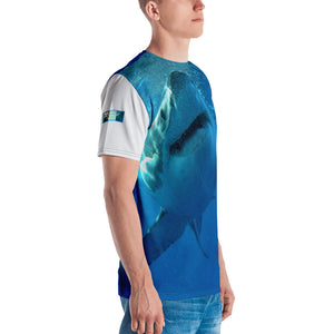 Premium T-shirt (2-sided) - Short Sleeve Unisex - Surrounded by Sharks Shark Shirt Collection