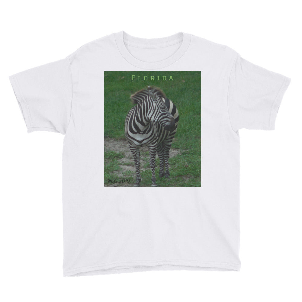 Youth/Kids' Short Sleeve T-Shirt - Zoey the Zebra Collection