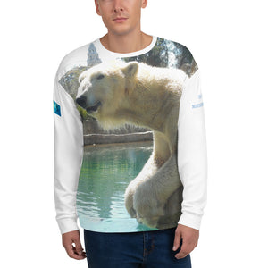 Unisex Premium Sweatshirt - 2-Sided All-over Print - Arctic Polar Bear Collection