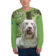Load image into Gallery viewer, Unisex Premium Sweatshirt - 2-Sided All-over Print - Wally the White Tiger Collection