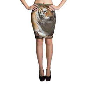 Women's All-Over Print Pencil Skirt - Toby the Tiger Collection