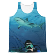 Load image into Gallery viewer, Unisex Tank Top (2-sided) - Swimming With Sharks Shark Shirt Collection