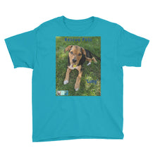 "Load image into Gallery viewer, Youth/Kids' Short Sleeve T-Shirt - Rescue Pets Collection - ""Lucy"" V"