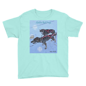 Youth/Kids' Short Sleeve T-Shirt - Alaska Sled Dogs Collection