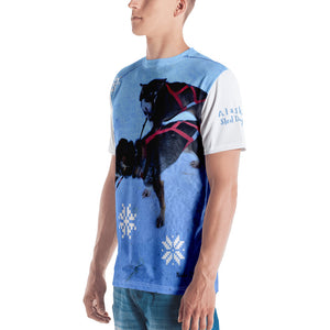 Premium T-shirt (2-sided) - Short Sleeve Unisex - Alaska Sled Dogs Collection
