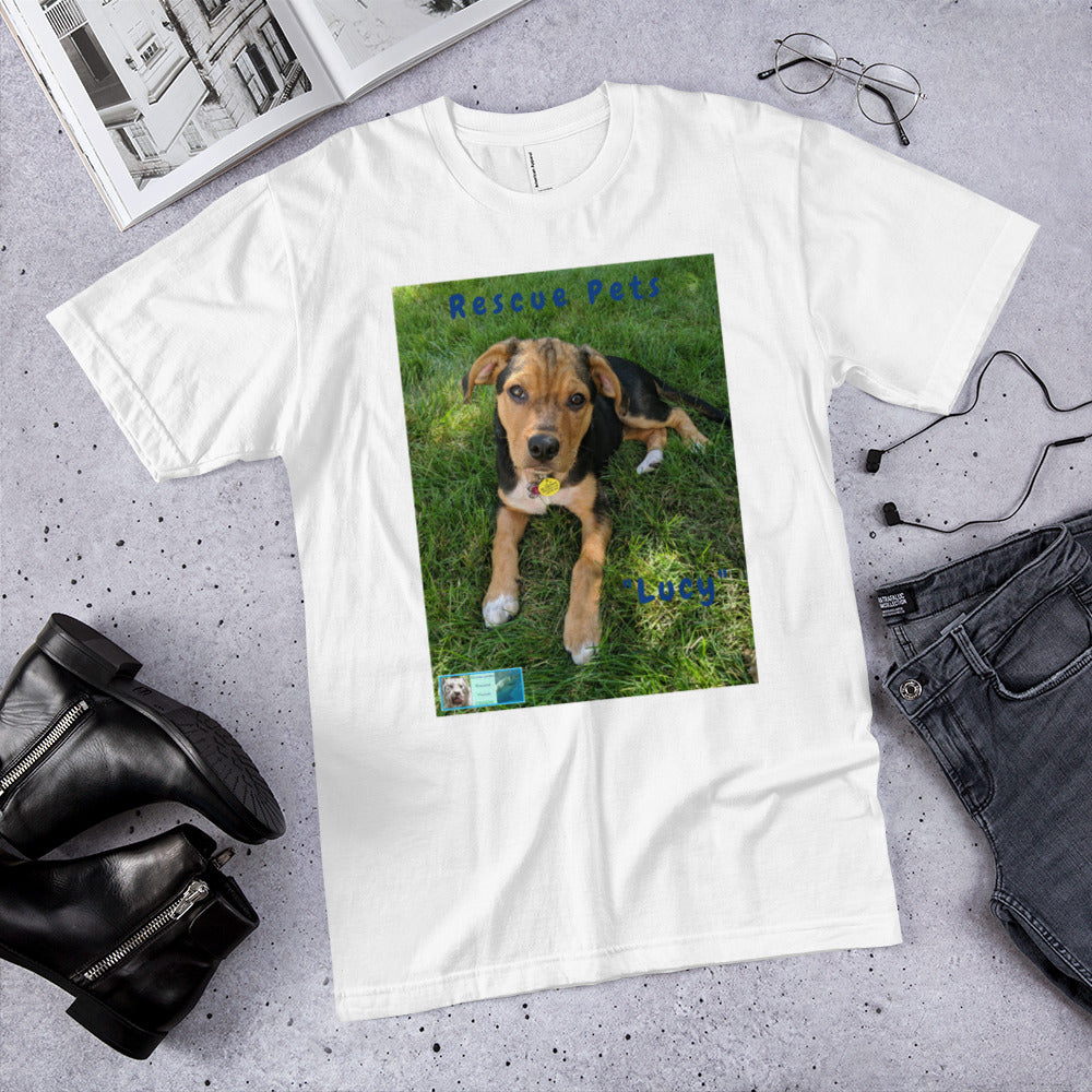 Unisex Fine Jersey Short Sleeve T-Shirt - Rescue Pets Collection -