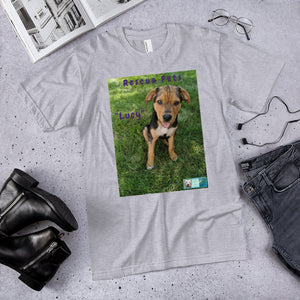 "Unisex Fine Jersey Short Sleeve T-Shirt - Rescue Pets Collection - ""Lucy"" III"
