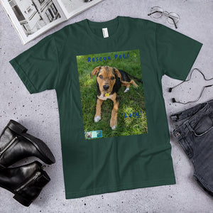 "Unisex Fine Jersey Short Sleeve T-Shirt - Rescue Pets Collection - ""Lucy"" V"