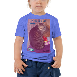 "Toddler Short Sleeve Tee - Rescue Pets Collection - ""Webby"""