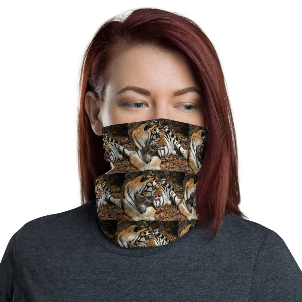 Neck Gaiter Face Mask Headband Bandana - Tiger