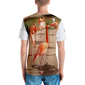 Premium T-shirt (2-sided) - Short Sleeve Unisex - Flamingo Friends Collection