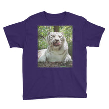 Load image into Gallery viewer, Youth/Kids' Short Sleeve T-Shirt - Wally the White Tiger Collection