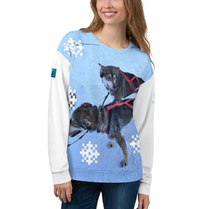 Unisex Premium Sweatshirt - 2-Sided All-over Print - Alaska Sled Dogs Collection