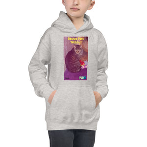"Kids Hoodie Sweatshirt - Rescue Pets Collection - ""Webby"""