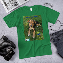 "Load image into Gallery viewer, Unisex Fine Jersey Short Sleeve T-Shirt - Rescue Pets Collection - ""Lucy"" V"
