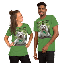 "Load image into Gallery viewer, ""Kiss Me, I'm Irish"" Customizable Short-Sleeve Unisex T-Shirt - St Patrick's Day White Tiger"