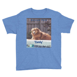 "Youth/Kids' Short Sleeve T-Shirt - Rescue Pets Collection - ""Candy"""