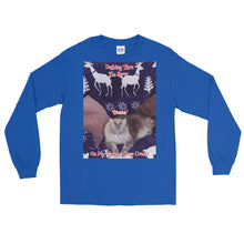 "Load image into Gallery viewer, ""Christmas Kitty"" Customizable Unisex Long Sleeve T-Shirt (""Chena"")"