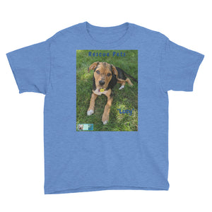 "Youth/Kids' Short Sleeve T-Shirt - Rescue Pets Collection - ""Lucy"" V"