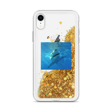 Load image into Gallery viewer, iPhone Case - Liquid Star Glitter-Filled - Shark