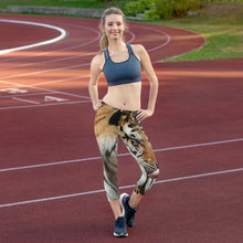 Load image into Gallery viewer, Women's Fitness/Fashion Capri Leggings - All-Over Print - Toby the Tiger Collection