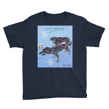 Load image into Gallery viewer, Youth/Kids' Short Sleeve T-Shirt - Alaska Sled Dogs Collection