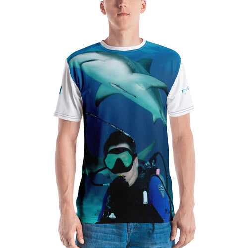 Premium T-shirt (2-sided) - Short Sleeve Unisex - Swimming With Sharks Shark Shirt Collection