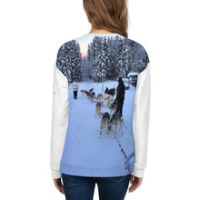 Load image into Gallery viewer, Unisex Premium Sweatshirt - 2-Sided All-over Print - Alaska Sled Dogs Collection