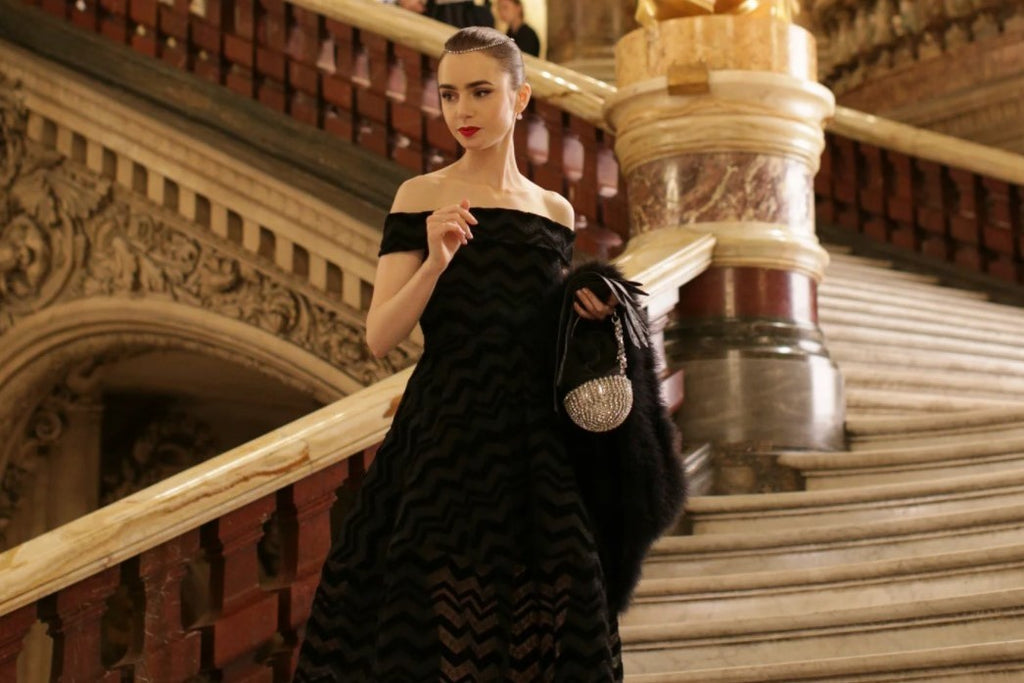 Woman in ball gown