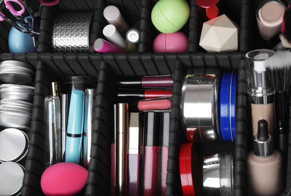 Simply organized makeup collection