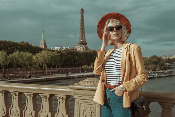 Woman in timeless French outfit