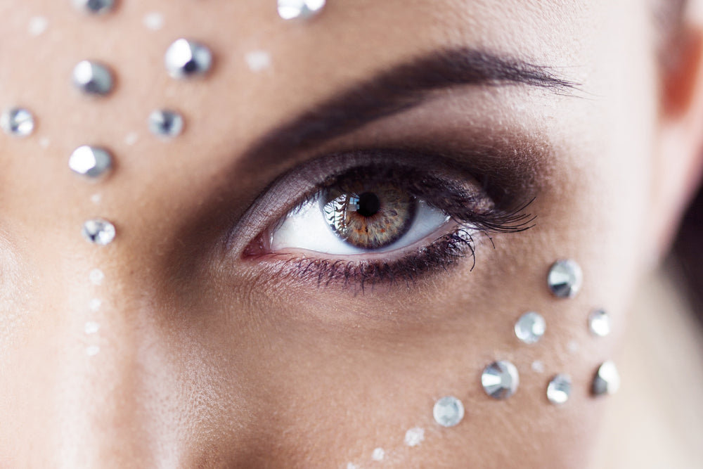 diamante around eyes
