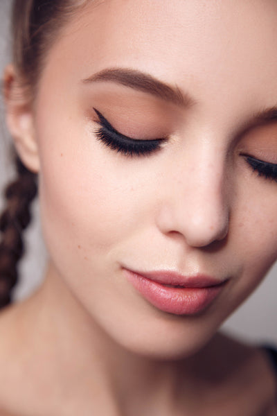 Young woman with nicely done eyeliner