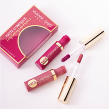 Load image into Gallery viewer, matte lipstick long lasting Matte Constance duo Vivienne Sabo| Shades 31 (cold nude) & 36 (rich purple)