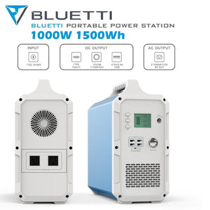 MAXOAK Portable Power Station BLUETTI EB150 1500Wh /1000W Camping Solar Generator Lithium Emergency Battery Backup