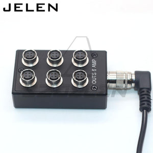 Distribuidor/Splitter de Voltaje, Hirose 4 pin a 6 salidas Hirose 4 pin, max 6 AMP, para Sound Devices 688, 633 & Zoom F8