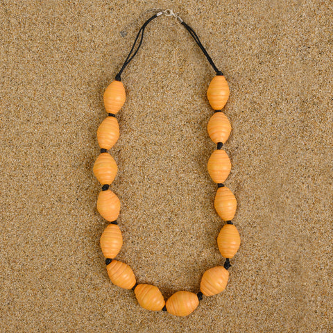 Asbury Neon Honeycomb Wood Necklace