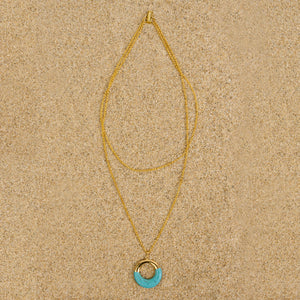 Windsor Gold Howlite Circle Pendant Necklace