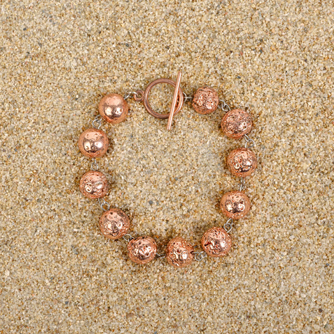Caldwell 8mm Rose Gold Lava Bracelet