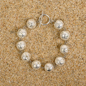 Caldwell 12mm Lava Silver Beaded Bracelet