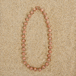 Caldwell 8mm Rose Gold Lava Necklace