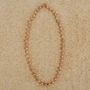 Caldwell 6mm Rose Gold Lava Bead Necklace