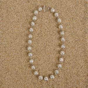 Caldwell 12mm Chunky Silver Lava Bead Necklace