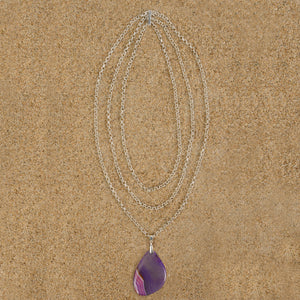 Windsor Agate Organic Tri-Strand Necklace