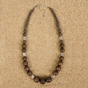 Rumson Graduated Exotic Wood Necklace